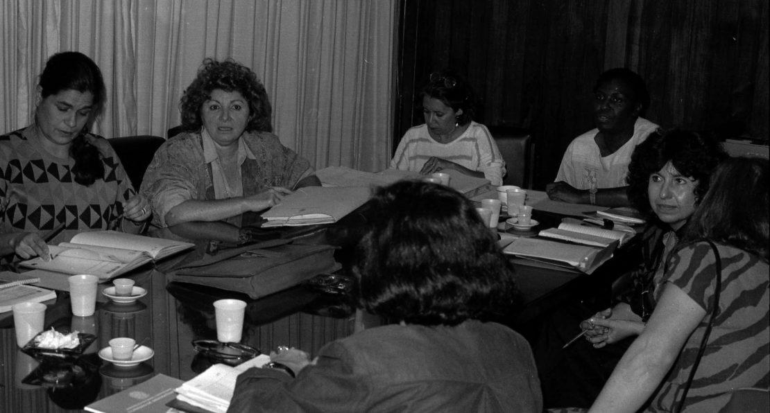 Reunião de deputadas que participaram da constituinte