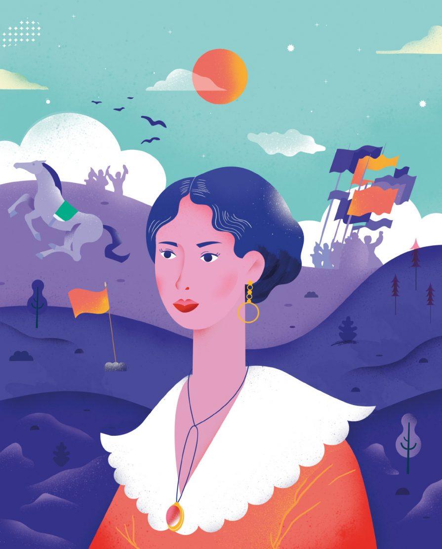 Anita Garibaldi ilustrada por Bárbara Malagoli
