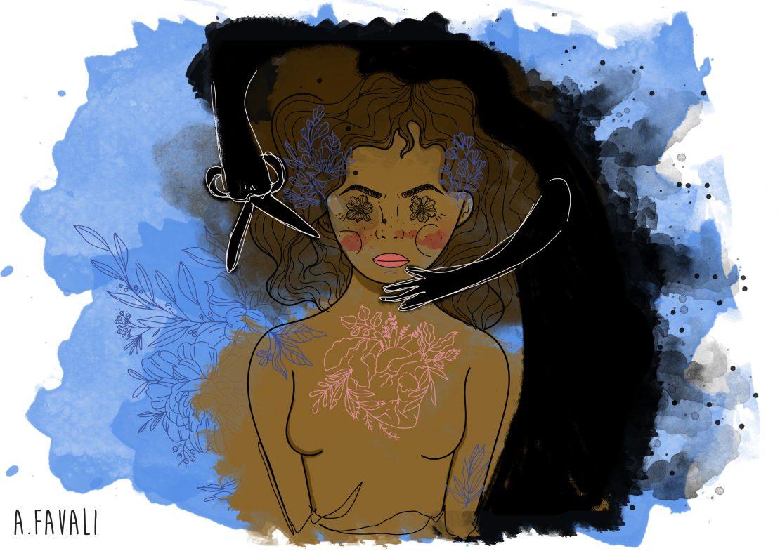 Ilustração sobre feminicídio