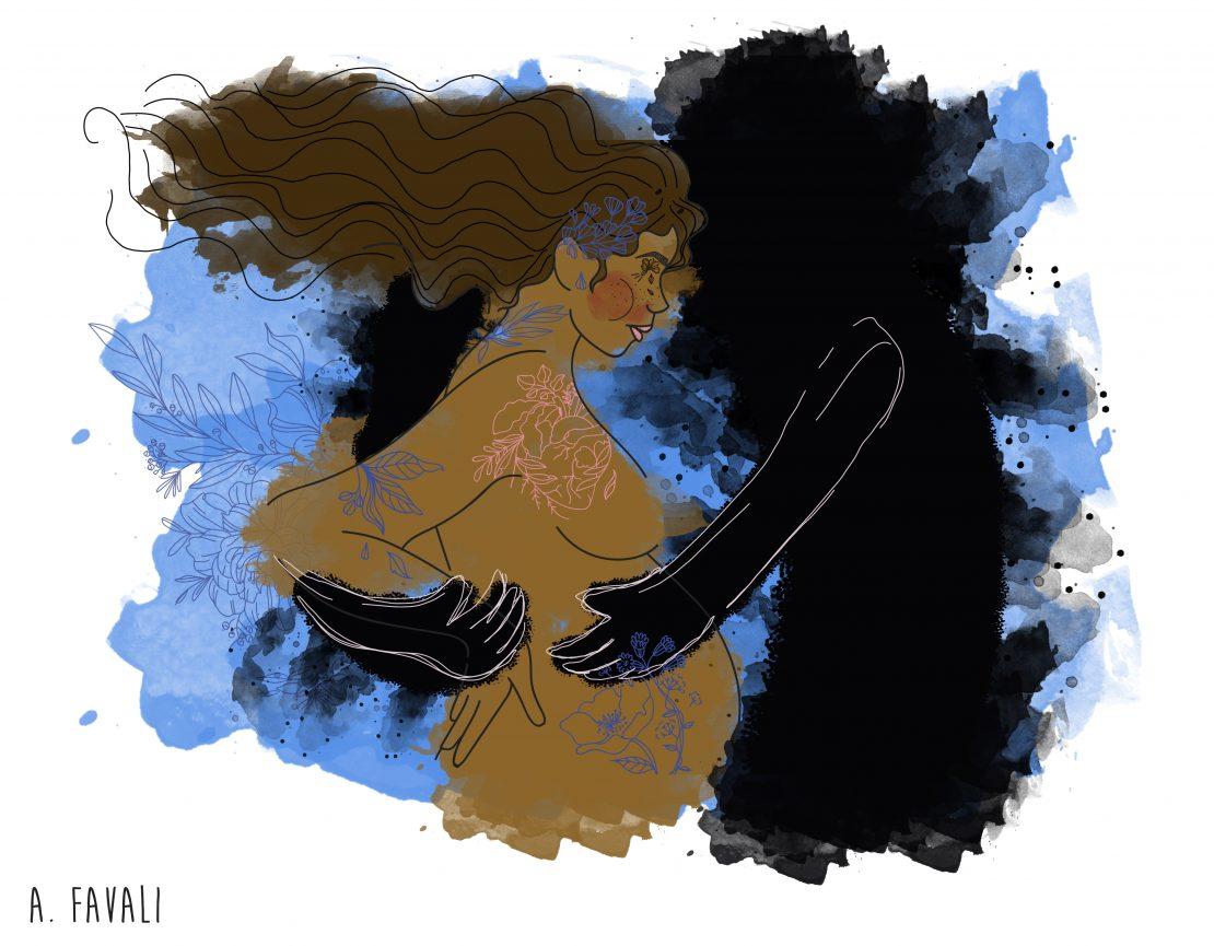 Ilustração sobre feminicidio