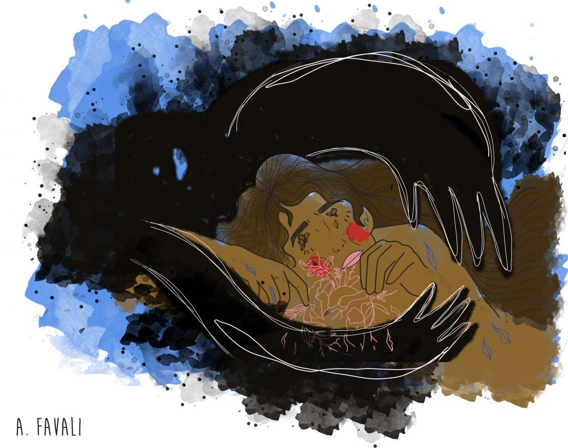 Ilustração sobre femicídio