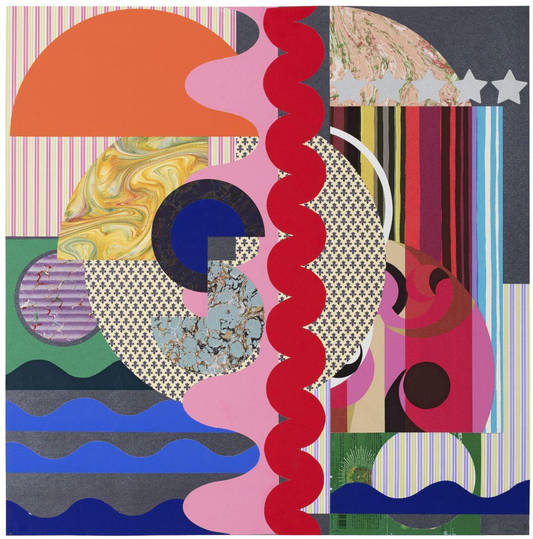 Obra 'Os cisnes com vermelho, rosa e prata' (2017), da artista plástica Beatriz Milhazes
