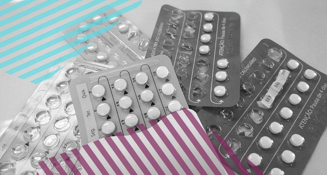 Cartelas de comprimidos anticoncepcionais