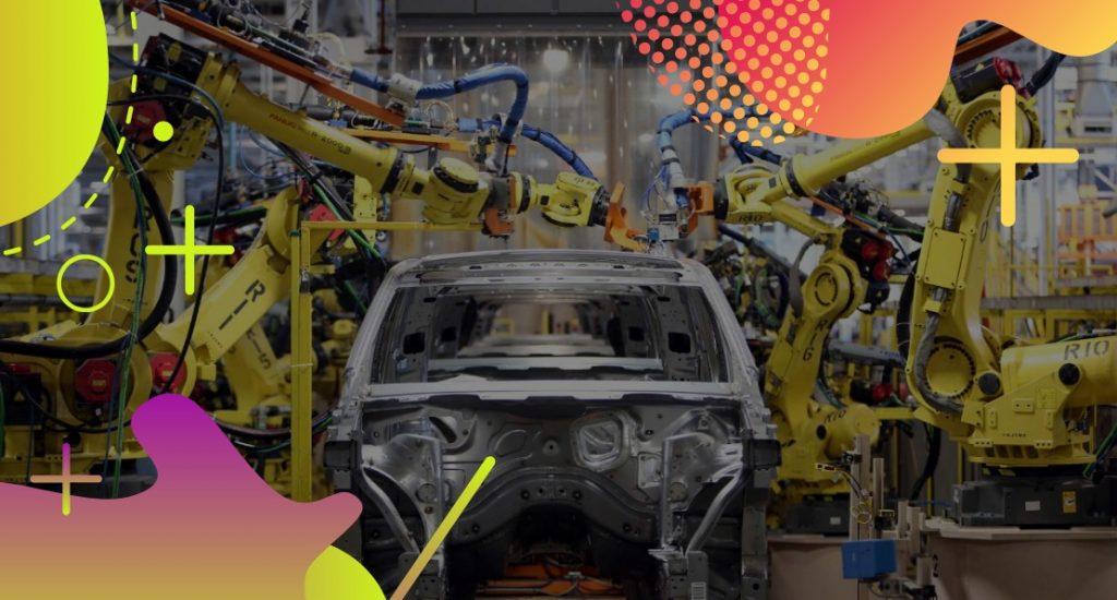Linha de produção de automóveis